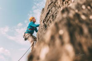 Kletterpartie am Wennefels